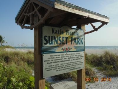 Katie Pierola Sunset Park Sign
