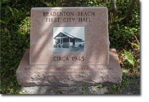 Bradenton Beach First City Hall Memorial Stone