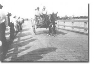 Horse-Drawn Wagon on Cortez Bridge